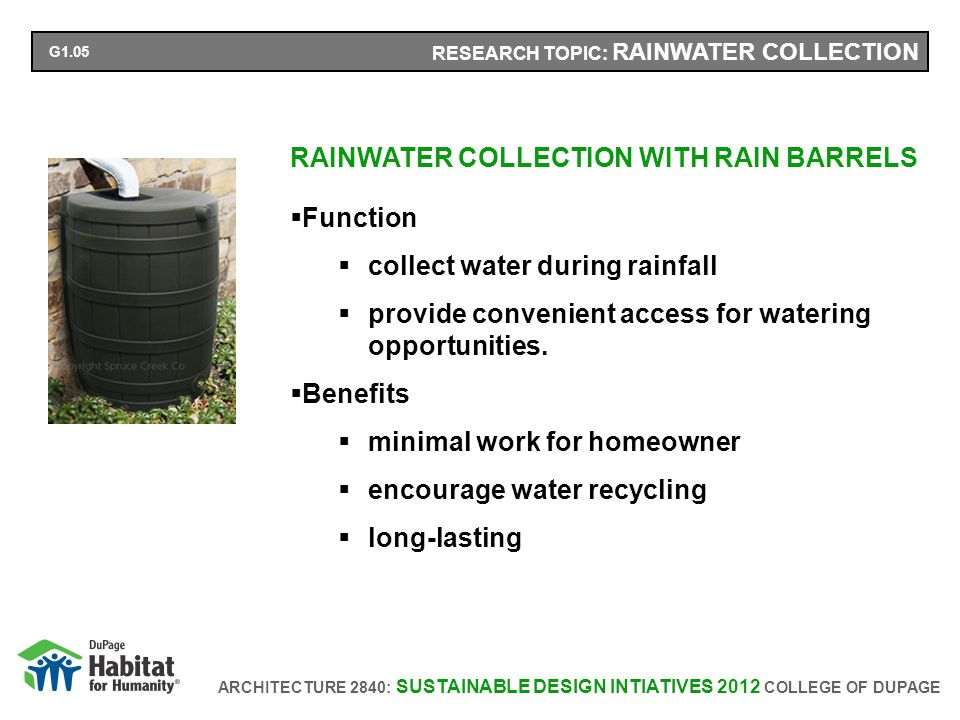ARCHITECTURE 2840: SUSTAINABLE DESIGN INTIATIVES 2012 COLLEGE OF DUPAGE RESEARCH TOPIC: RECIRCULATION SYSTEM On-Demand Recirculation System Research It has shown to change hot and cold water use behavior.
