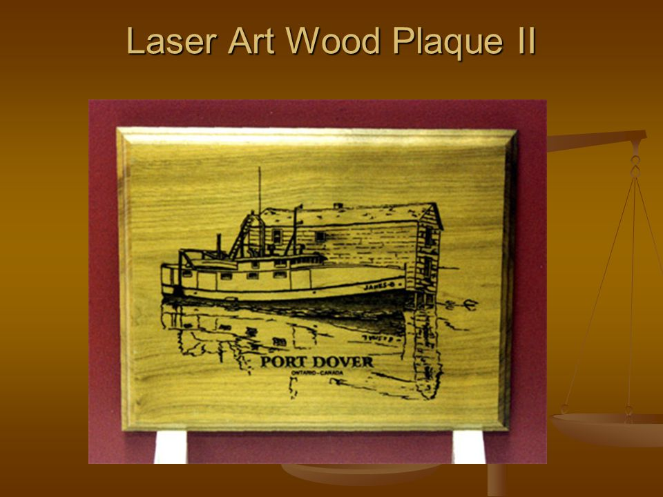 Laser Art Wood Plaque II