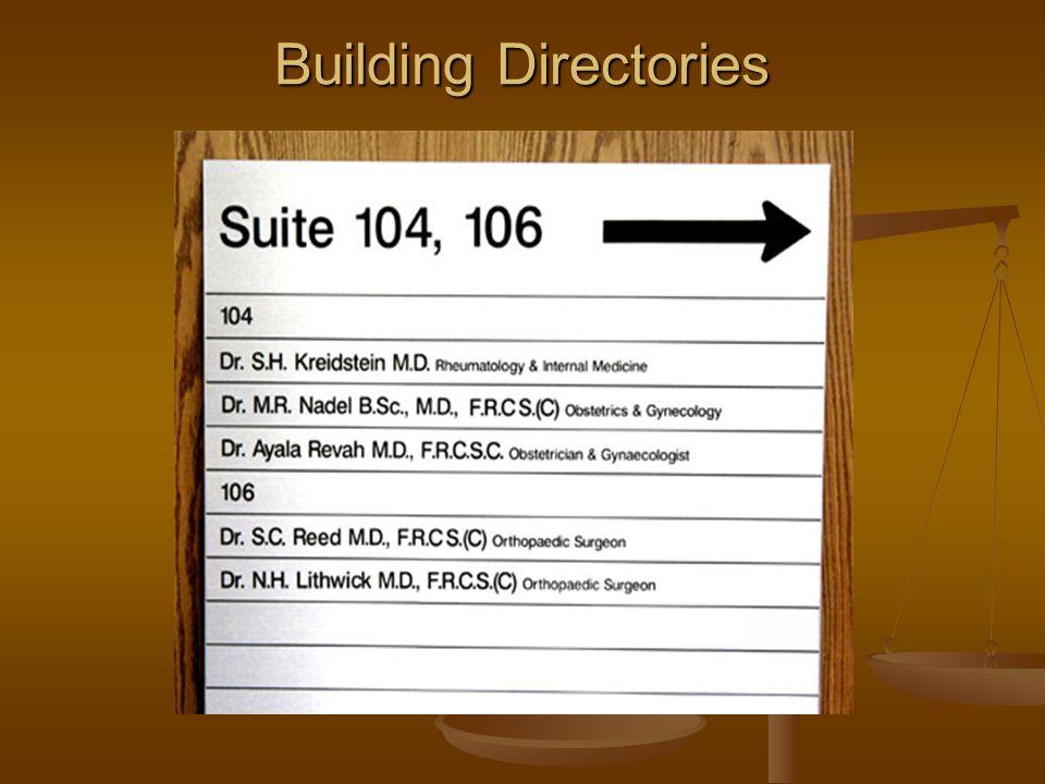 Building Directories