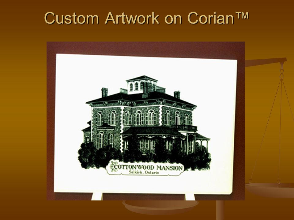 Custom Artwork on Corian