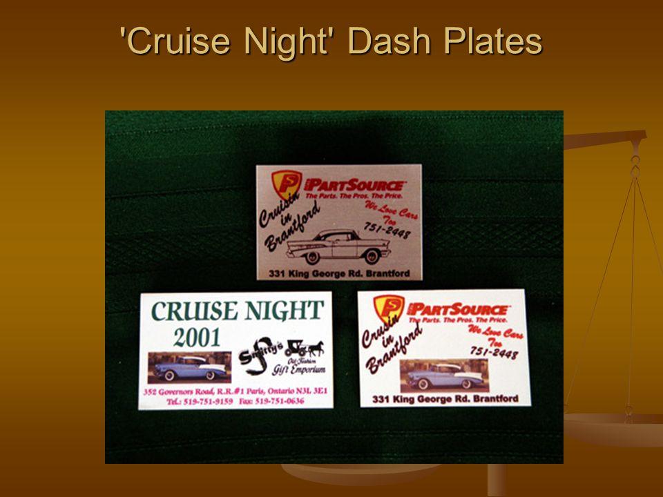 'Cruise Night' Dash Plates 'Cruise Night' Dash Plates