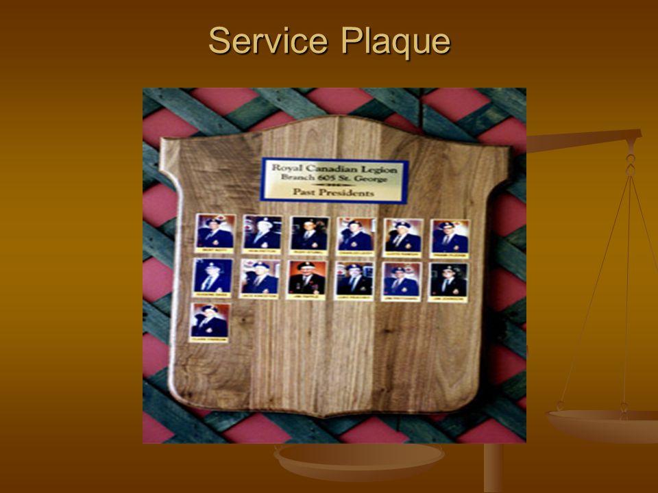Service Plaque