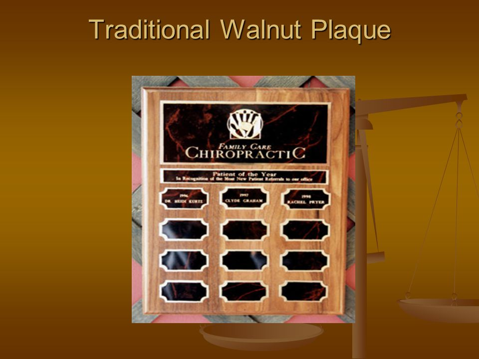 Traditional Walnut Plaque