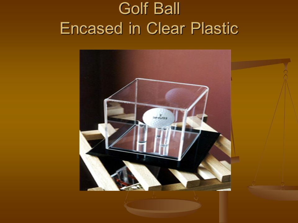 Golf Ball Encased in Clear Plastic