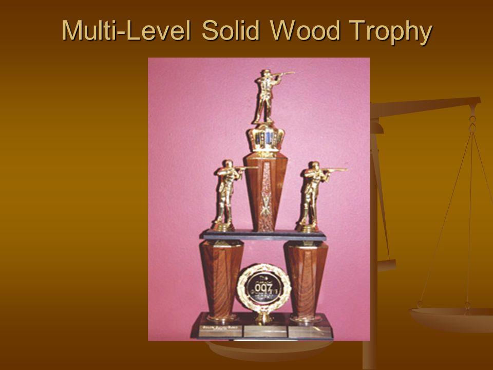 Multi-Level Solid Wood Trophy