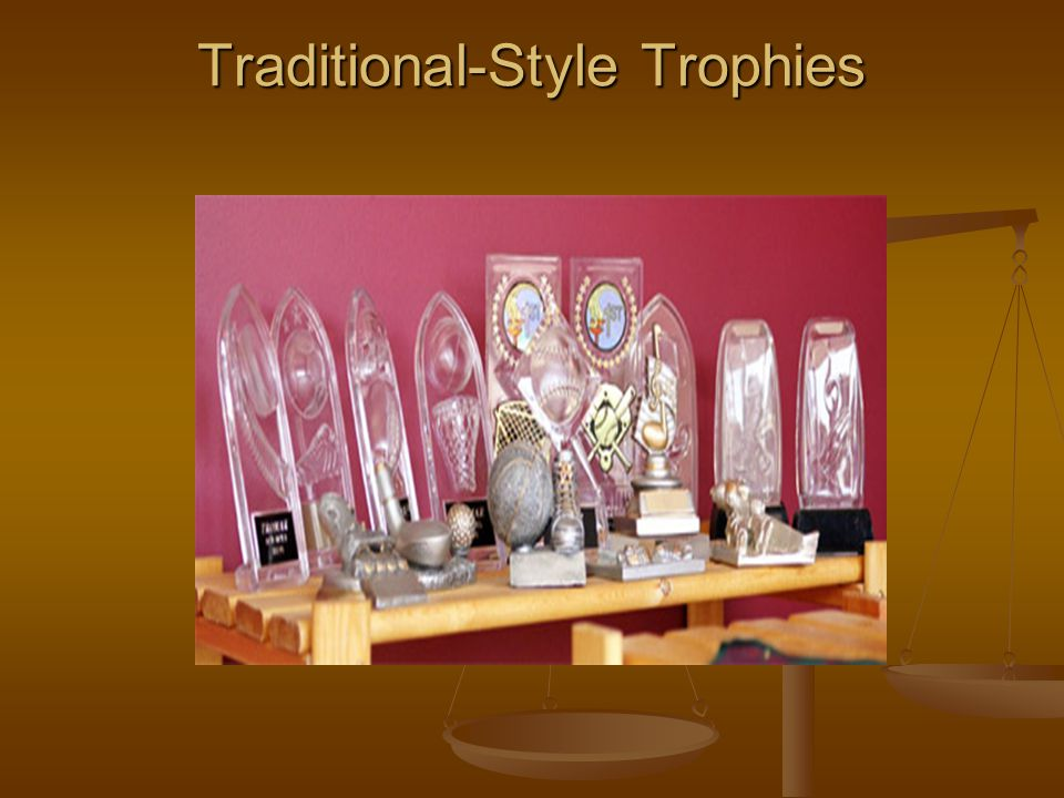 Traditional-Style Trophies
