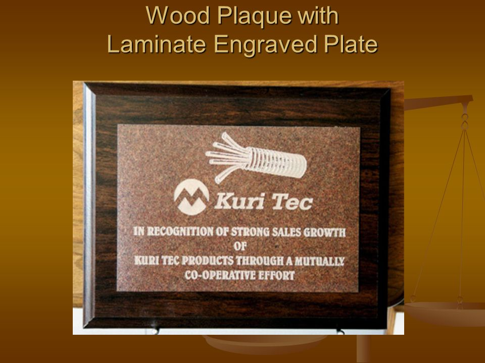 Wood Plaque with Laminate Engraved Plate