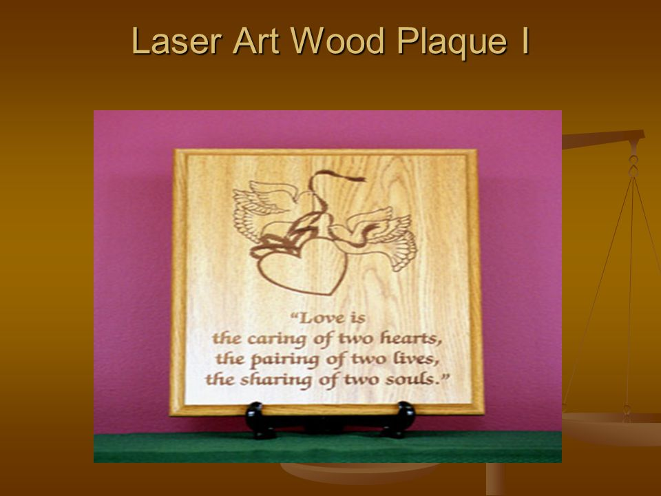 Laser Art Wood Plaque I