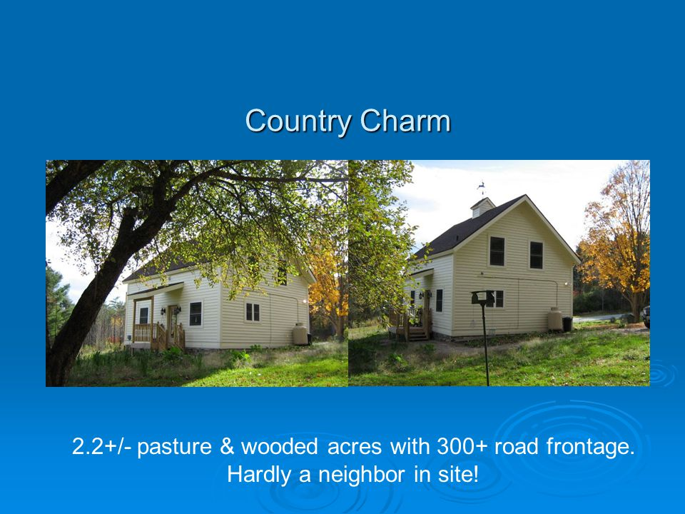 Country Charm 2.2+/- pasture & wooded acres with 300+ road frontage. Hardly a neighbor in site!