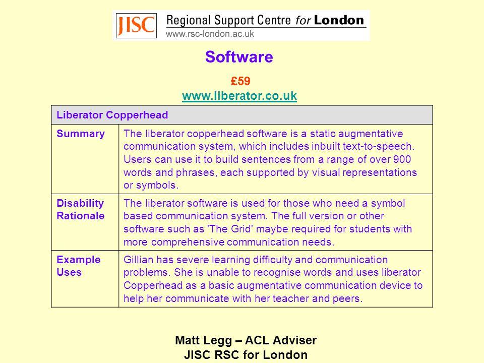 Matt Legg – ACL Adviser JISC RSC for London Hardware Intellikeys USB SummaryThe Intellikeys is both an access device and an alternative keyboard.