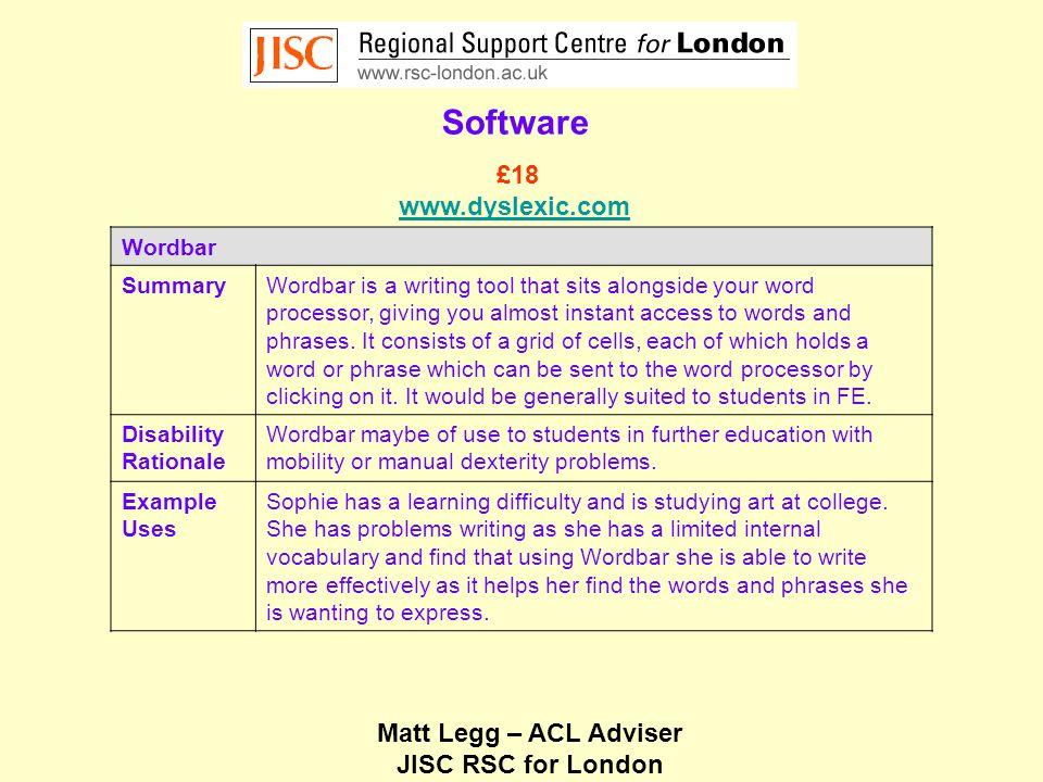 Matt Legg – ACL Adviser JISC RSC for London Hardware AlphaSmart Dana SummaryThe Dana is a full sized keyboard with a large screen which offers an alternative to a laptop.