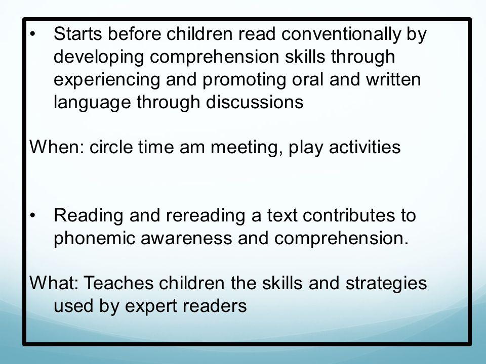 Repertoire of Techniques Effective teachers have a repertoire of techniques for enhancing comprehension of specific texts.