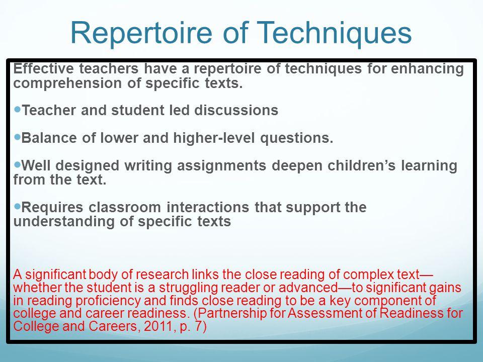 Effective reading instruction…..