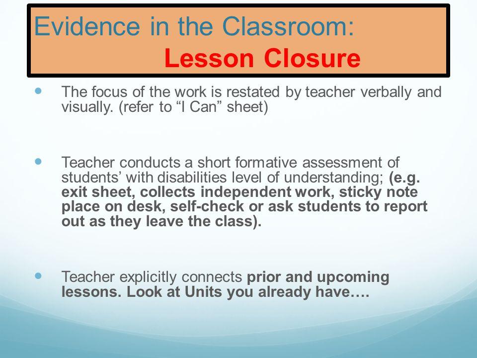 Little or no understanding Partial understanding Complete understanding Lesson Assessment Closure: Exit activity