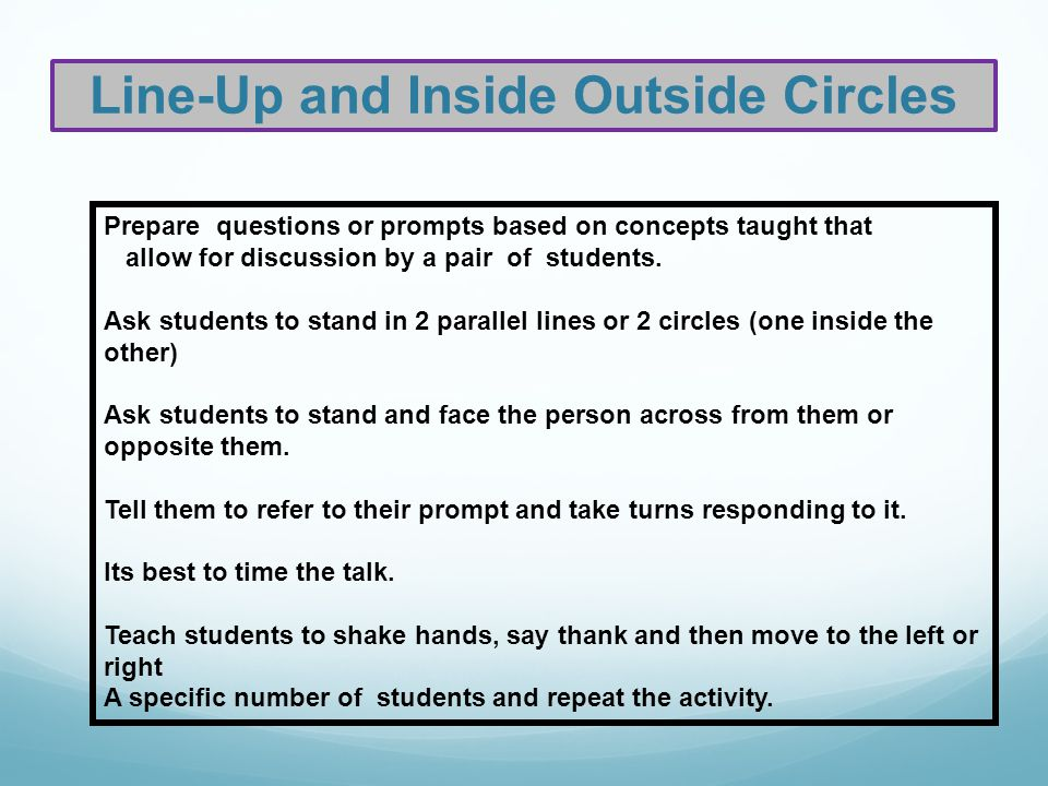 Networking Session 1.Prepare one to four prompts or questions 2.Ask students to reflect on the ?s and do a quick write 3.Ask the students to find someone to discuss their responses to the prompt with.