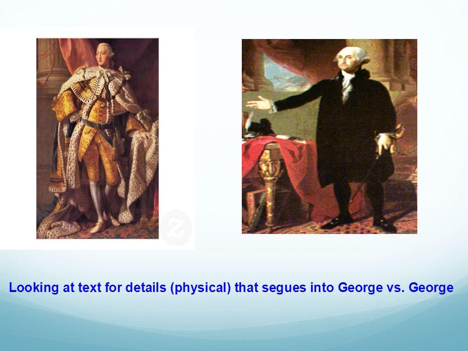Develops sentence strips for venn - diagram comparing George Washington and King George IIII.