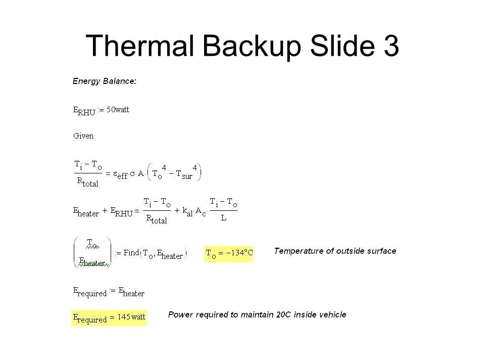 Thermal Backup Slide 3