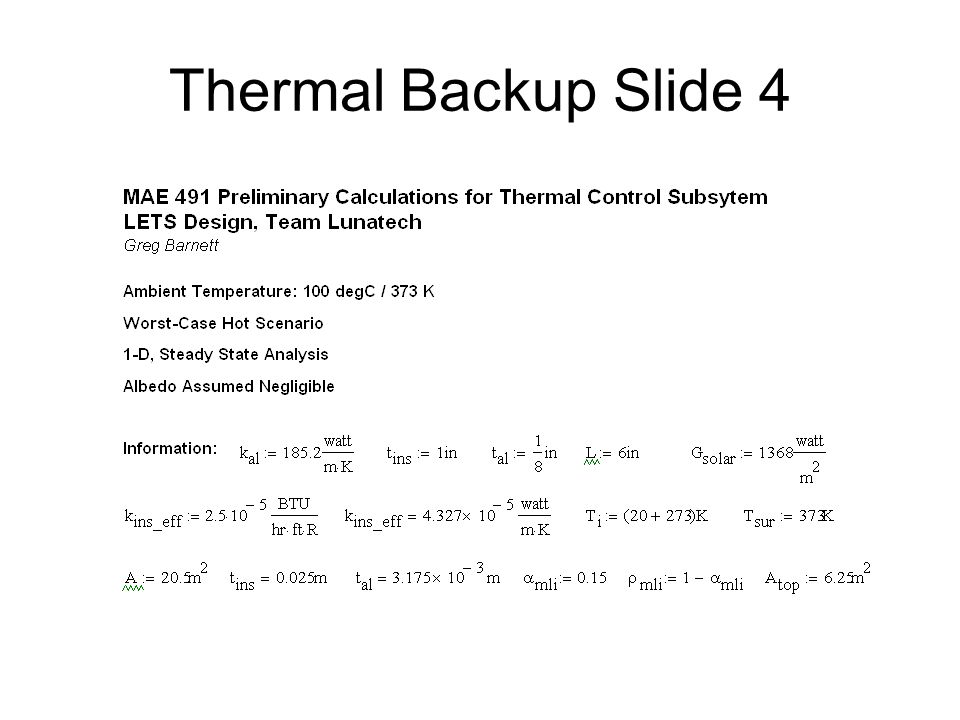 Thermal Backup Slide 4