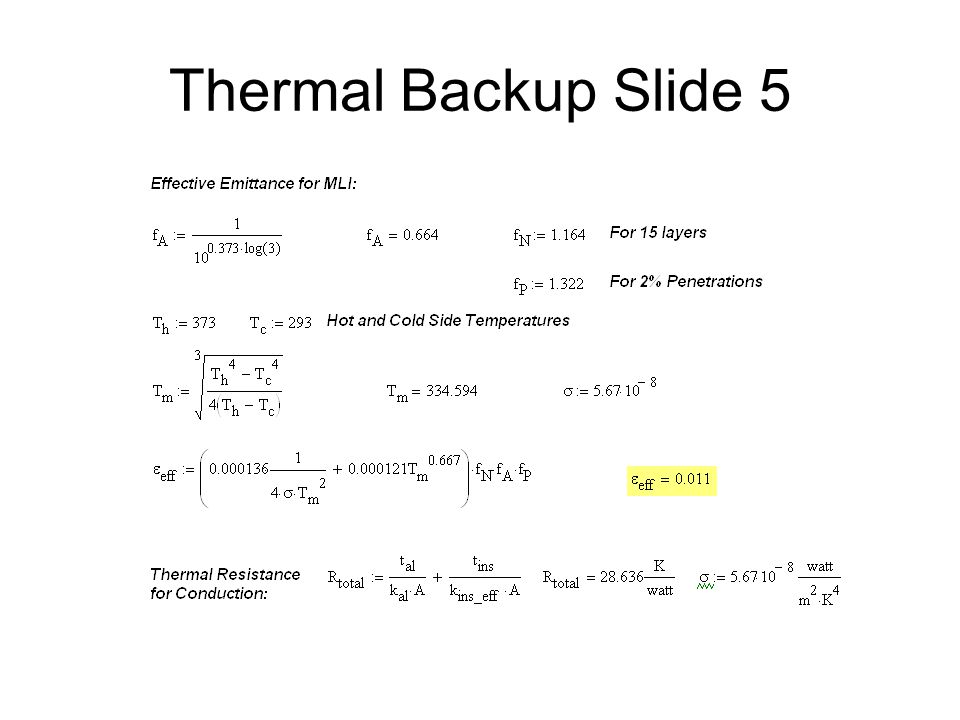 Thermal Backup Slide 5