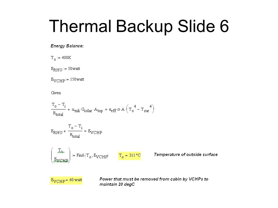 Thermal Backup Slide 6