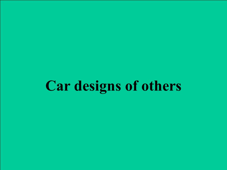 Car designs of others