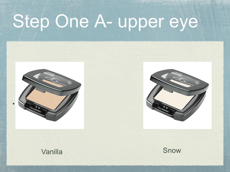 Step One A- upper eye VCA Vanilla Snow