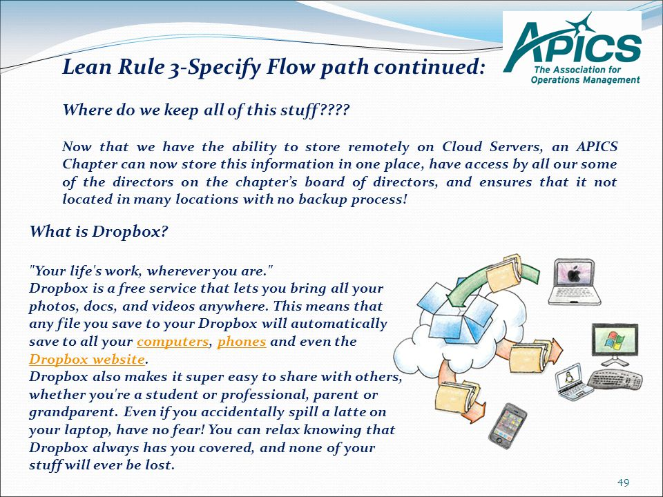 Lean Rule 3-Specify Flow path continued: Where do we keep all of this stuff .