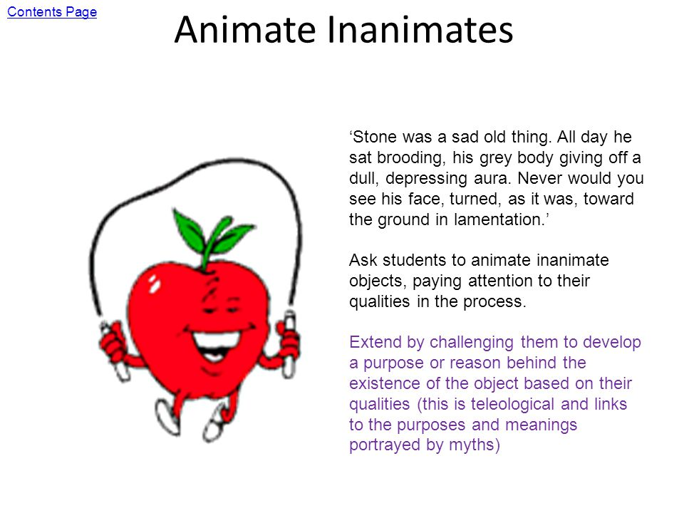 Animate Inanimates Stone was a sad old thing.