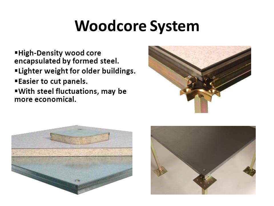 Woodcore System High-Density wood core encapsulated by formed steel.