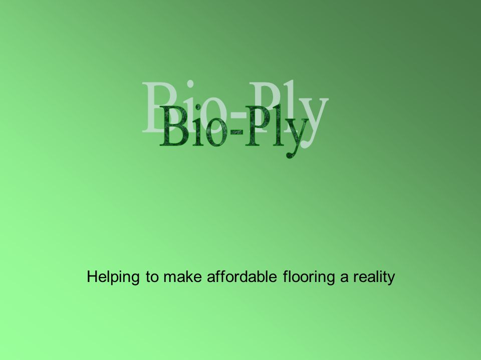 Helping to make affordable flooring a reality