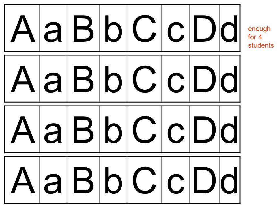 AaBbCcDd enough for 4 students AaBbCcDd AaBbCcDd AaBbCcDd