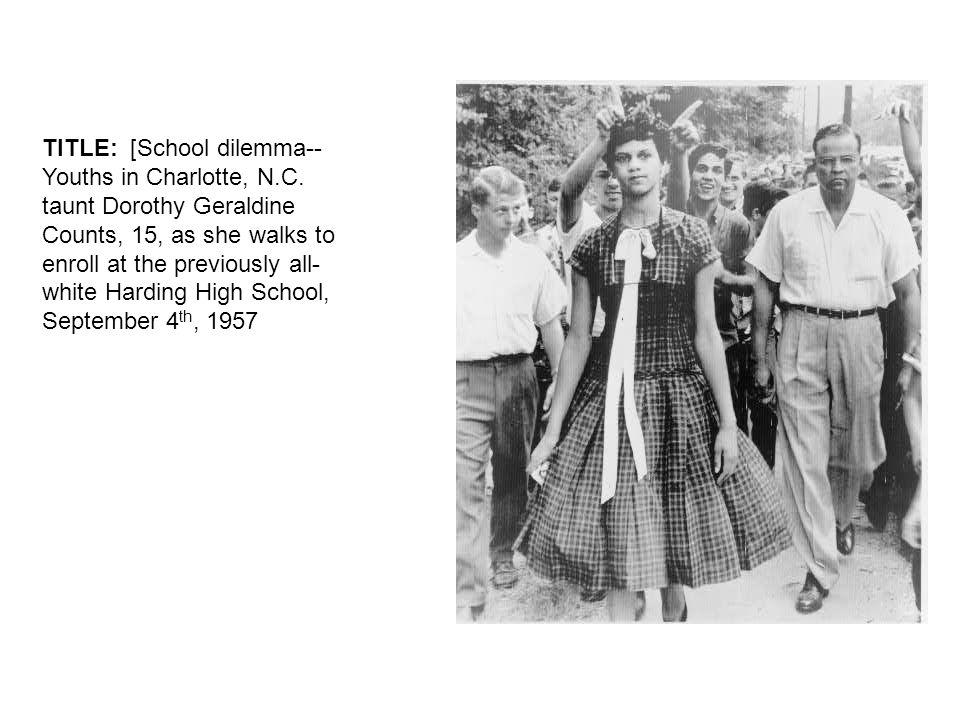 TITLE: [School dilemma-- Youths in Charlotte, N.C.