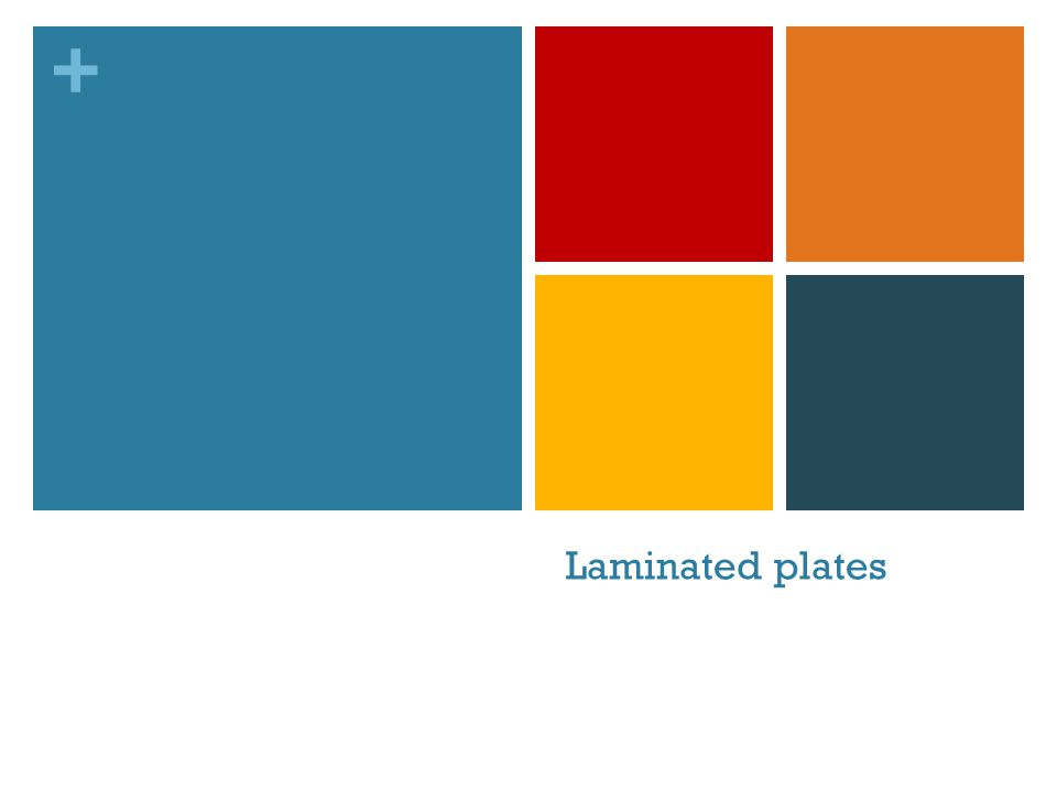 + Laminated plates