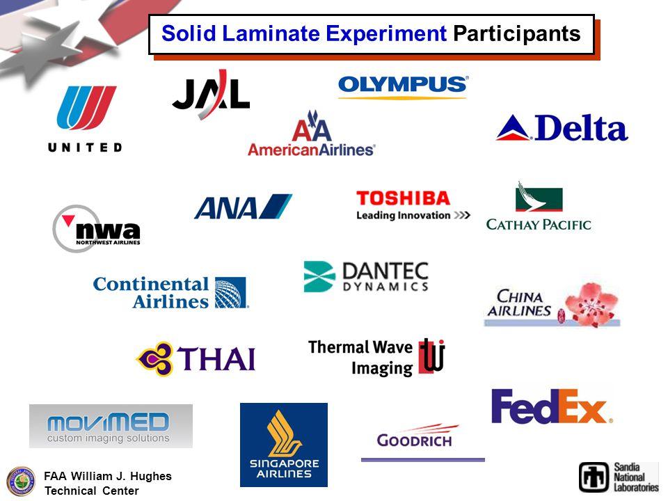 FAA William J. Hughes Technical Center Solid Laminate Experiment Participants