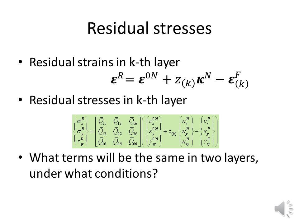 Residual strains