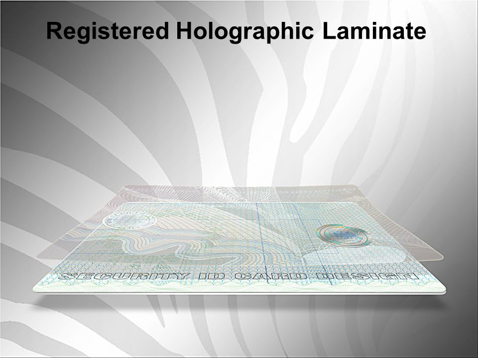 Registered Holographic Laminate