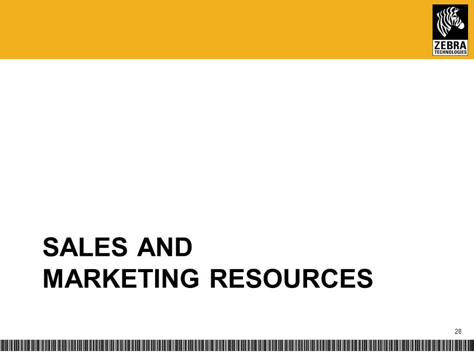 SALES AND MARKETING RESOURCES 28