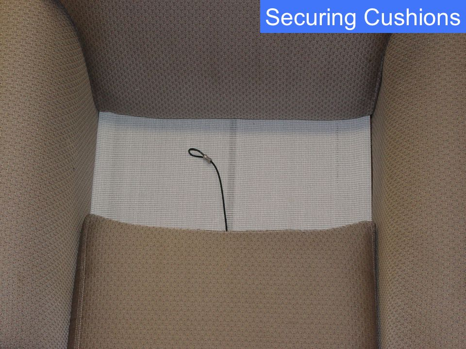 Securing Cushions