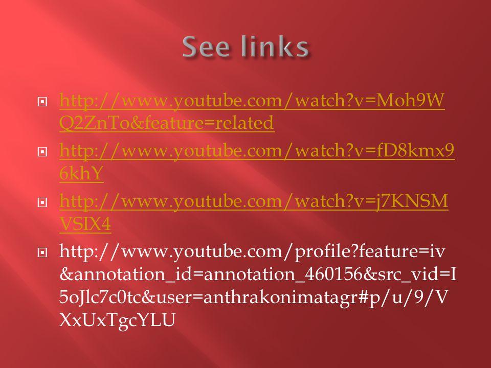 http://www.youtube.com/watch v=Moh9W Q2ZnTo&feature=related http://www.youtube.com/watch v=Moh9W Q2ZnTo&feature=related http://www.youtube.com/watch v=fD8kmx9 6khY http://www.youtube.com/watch v=fD8kmx9 6khY http://www.youtube.com/watch v=j7KNSM VSIX4 http://www.youtube.com/watch v=j7KNSM VSIX4 http://www.youtube.com/profile feature=iv &annotation_id=annotation_460156&src_vid=I 5oJlc7c0tc&user=anthrakonimatagr#p/u/9/V XxUxTgcYLU