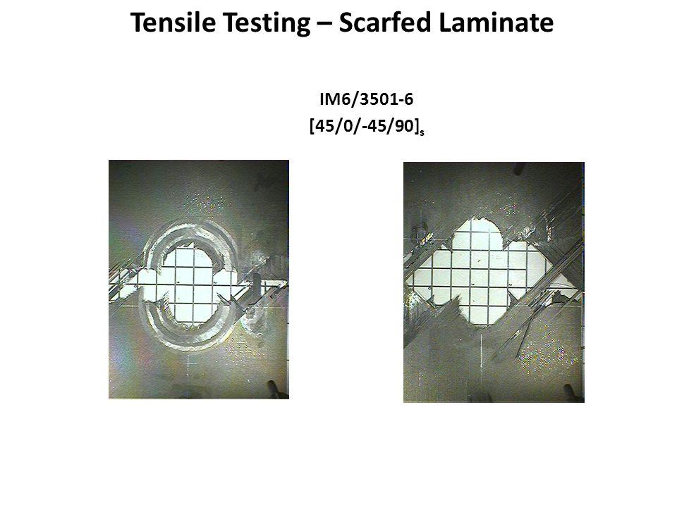 Tensile Testing – Scarfed Laminate IM6/3501-6 [45/0/-45/90] s