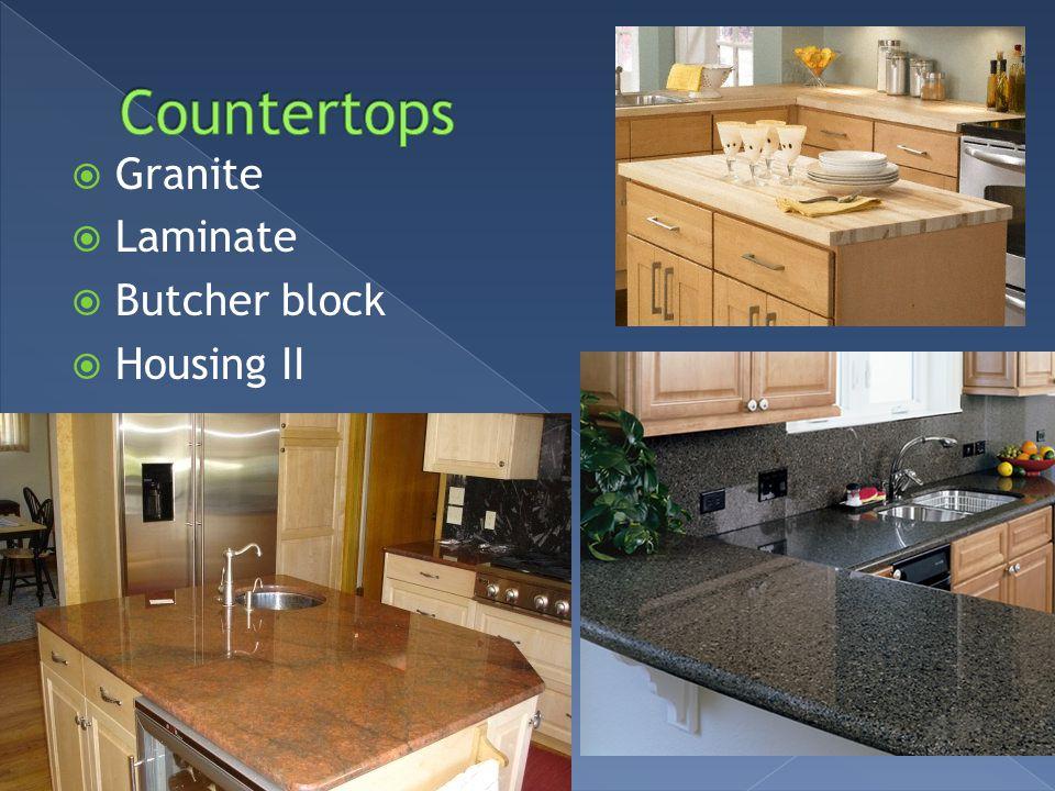 Granite Laminate Butcher block Housing II