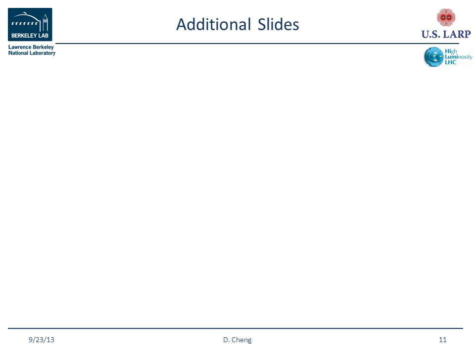 Additional Slides 9/23/1311D. Cheng