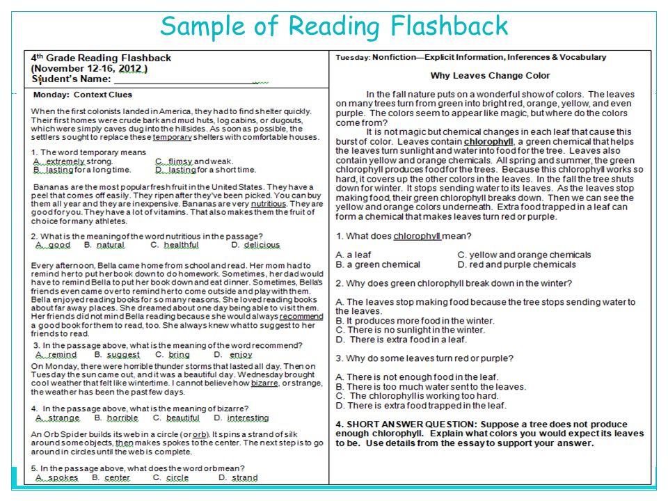 Sample of Reading Flashback