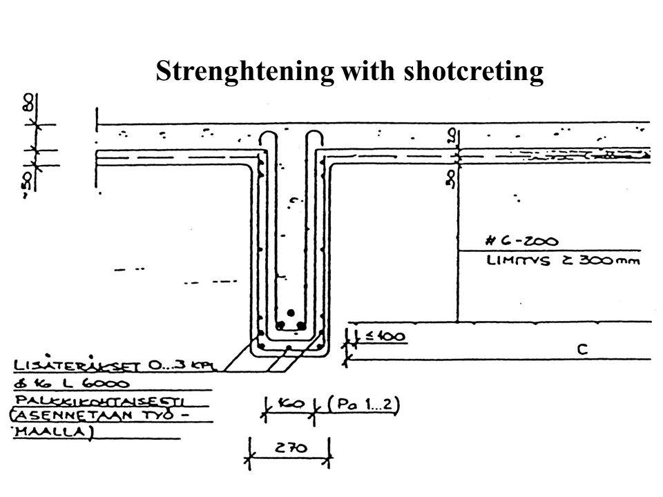 Strenghtening with shotcreting