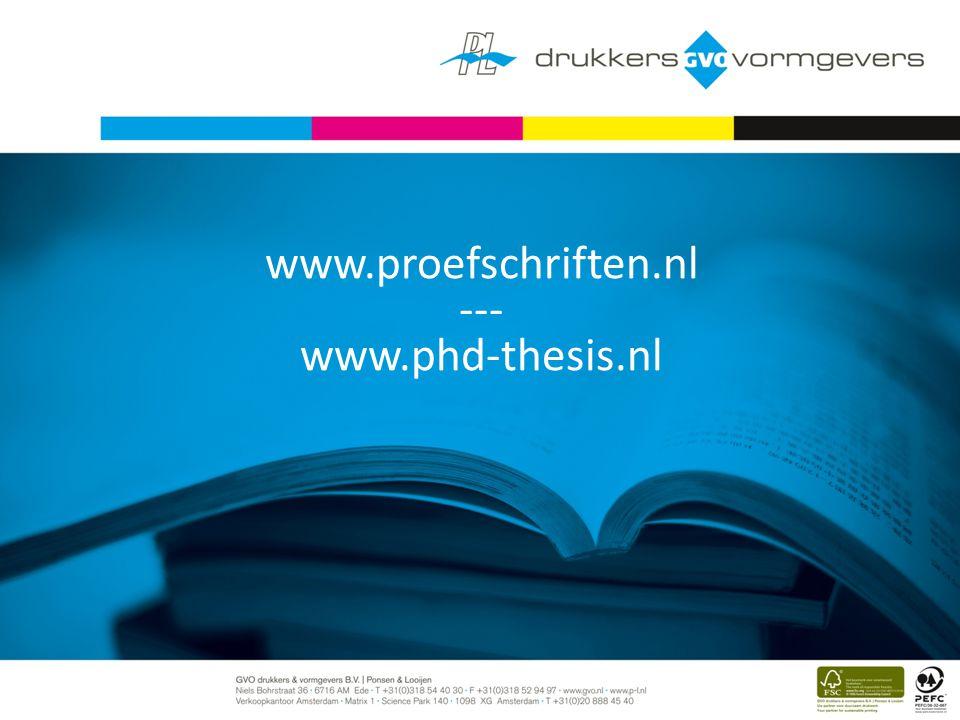 www.proefschriften.nl --- www.phd-thesis.nl