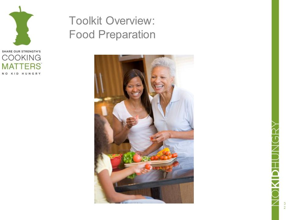 Toolkit Overview: Food Preparation 32