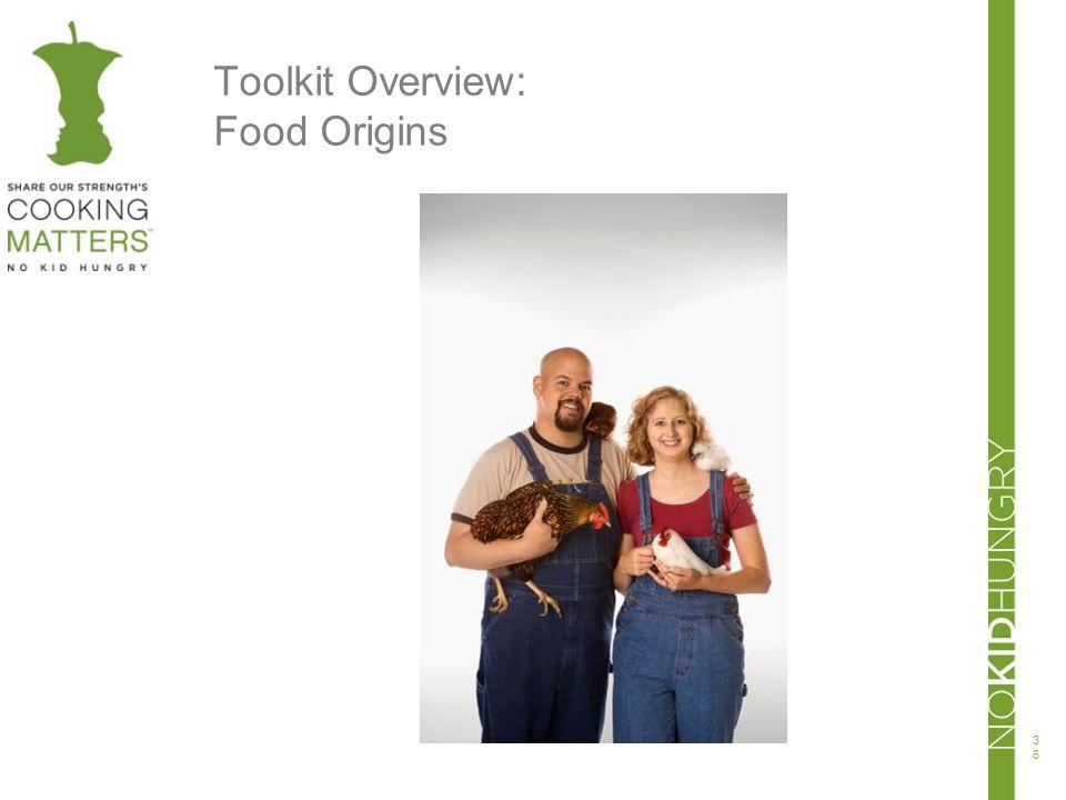 Toolkit Overview: Food Origins 36