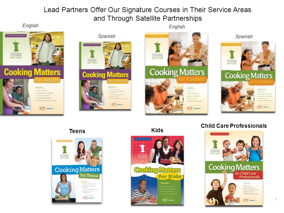 Spanish 7 Teens Kids Child Care Professionals English Spanish English Lead Partners Offer Our Signature Courses in Their Service Areas and Through Sat