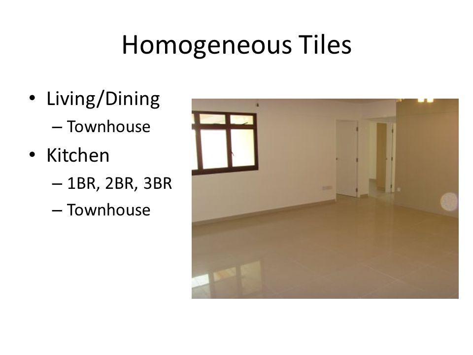 Homogeneous Tiles Living/Dining – Townhouse Kitchen – 1BR, 2BR, 3BR – Townhouse