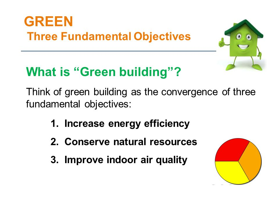 GREEN Three Fundamental Objectives What is Green building.